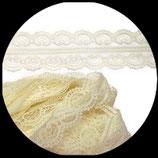 Dentelle polyester ivoire 4.5 cm X  10 m. DEN034