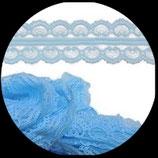 Dentelle polyester bleu clair 4.5 cm X 3 m. DEN029