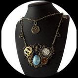 Collier steampunk araignée engrenage fait main - bijoux steampunk araignée engrenage collier