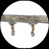 Galon gris frange perlée gris 7.5 cm vendu au mètre GAL032