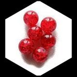 Perle en verre ronde givrée 12 mm rouge X 2 perles Réf : 369