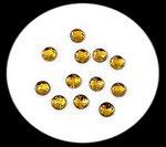 lot de 20 strass dorés acrylique à facettes ronds 10 mm STR074