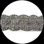 Galon or et argent 3.5 cm GAL068