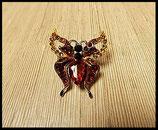 Bague élastique papillon strass BAG009