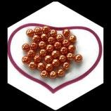 lot de 20 perles nacrées orange 8 mm création bijoux Réf : 1537