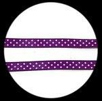 gros grain violet à pois blancs 10 mm ruban GGRO29