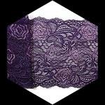 Dentelle élastique fleurs violet 16 cm DEN102