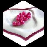 lot de 13 perles nacrées rose 6 mm création bijoux Réf : 1520