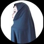 Cagoule ou hijab adulte bleu gris pour costume CAG019