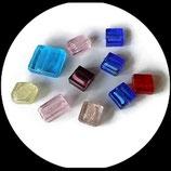perles de verre  palet  mélange lot de 10 - fourniture  palets verre création bijoux réf : 1398