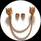 Clip chaîne tigre métal doré pour veste CLI003