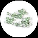 Perle en verre ronde vert clair x 24 Réf : 1376