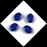 Palet ovale nacré 12 x 9 mm bleu royal  X 4 perles palets Réf : 701