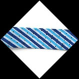 Biais replié 20 mm polyester rayé, pois fond blanc BIA010