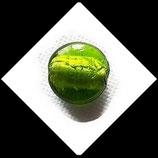 Perle palet de verre feuille d'argent  vert 20 mm Réf : 900