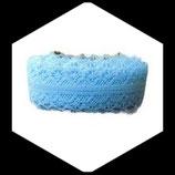Dentelle polyester bleu ciel  3 cm X  9 m  DEN040