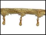 Galon doré frange perlée 7.5 cm vendu au mètre GAL034