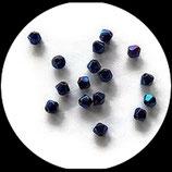 Toupies bleues 4 mm finition métallique lot de 20 perles Réf : 1369.