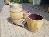 Dreiviertel Weinfass, als Pflanzkübel, ca. 180L