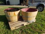 Halbes Weinfass, als Pflanzkübel oder Miniteich, ca. 100L