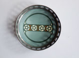 ANTIQUE MAX DANNHORN VILLEROY & BOCH PORCELAIN PLATE METAL TRAY BOWL