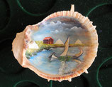 VINTAGE PAINTED SHELL