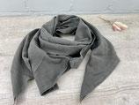 Musselin-Tuch Erwachsene uni kalt braun