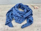 Musselin-Tuch Erwachsene Schwalben jeansblau