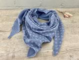 Musselin-Tuch Erwachsene Anker hellblau