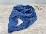 Musselin-Tuch Erwachsene Libellen jeansblau
