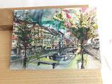 Postkarte Brunnen