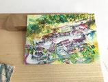 Postkarte Grün