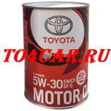 Оригинальное моторное масло Тойота Камри 2.5 181 лс 2018- (TOYOTA CAMRY V70 2.5) TOYOTA 5W30 SN (1л) 0888010706