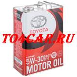 Оригинальное моторное масло Тойота Камри 2.5 181 лс 2011-2016 (TOYOTA CAMRY 2.5) TOYOTA 5W30 (4л) 0888010705