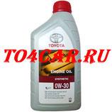 Оригинальное моторное масло Тойота Прадо 2.7 163 лс 2009-2017 (TOYOTA PRADO 150 2.7 БЕНЗИН) TOYOTA 0W30 (1л) 0888080366GO