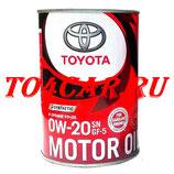 Оригинальное моторное масло Тойота РАВ 4 2.0 2012-2017 (TOYOTA RAV4 2.0) TOYOTA 0W20 SN (1л) 0888012606