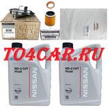 Комплект для замены масла в вариаторе (CVT) Ниссан Тиана 2.5 182 лс 2008-2013 (NISSAN TEANA J32) ПЕРЕДНИЙ ПРИВОД NS2 (5л)