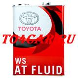 Оригинальное масло АКПП Тойота Прадо 4.0 282 лс 2009-2017 (TOYOTA PRADO 150 4.0 БЕНЗИН) TOYOTA ATF WS (4л) 0888602305