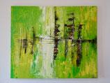 Acrylbild grün, Primavera
