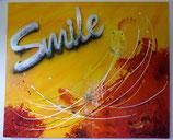 Acrylbild gelb, Smile