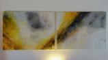 Acrylbild gelb