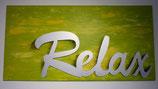 Acrylbild grün, Relax