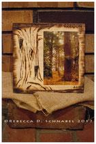 Fine Art Photograph on Wood-Burned Plaque + Key Hooks (4x6 in. photo)
