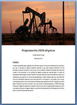Projection for 2020 oil prices
