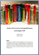 Analysis of innovative rechargeable battery technologies 2018