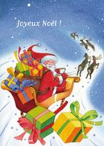 Carte Le traineau du Père Noël