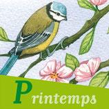 Magnet 4 saisons Oiseaux Printemps
