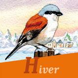 Magnet 4 saisons Oiseaux Hiver