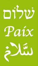 Magnet Paix Shalom Salam Vert