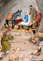 Carte Adoration des bergers